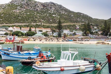 Fishing boats at Kalk Bay harbour - South Africa