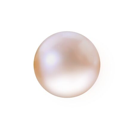 Champagne pearl isolated on white background Stock Photo