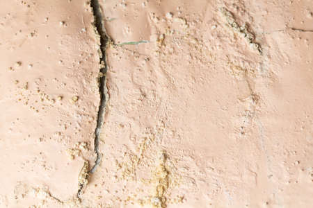 Abstract grunge textured wall with space  - cracked peeling paint wall background Banque d'images