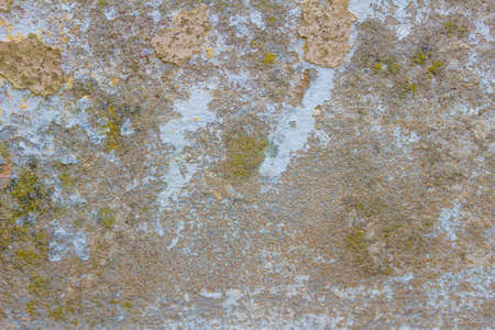 Abstract grunge distressed old cement wall texture with peeling paint and copy space - blurred image Banque d'images