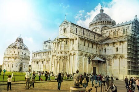 Cathedral and baptistery of Pisa, Italy, Europe Banque d'images - 96421960