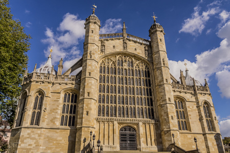 View of St Georges Chapel within the grounds of Windsor Castle near London, England, Europe