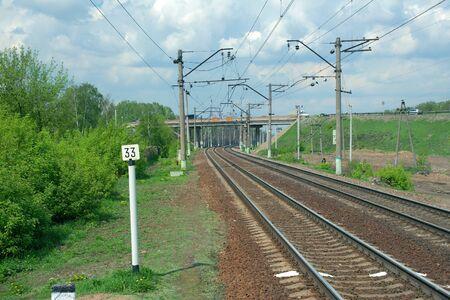 prospect: Railway perspective en mai sous les nuages ??d'orage