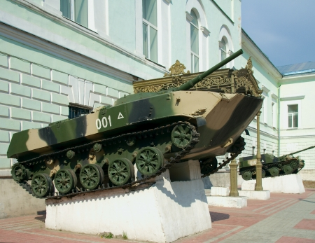 airborne vehicle: BMD  airborne amphibious tracked infantry fighting vehicle  near the Museum of airborne troops history in Ryazan  Editorial
