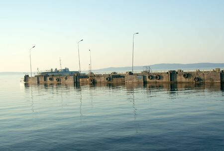 onega: Pier on Lake Onega, sunset, Petrozavodsk, Karelia