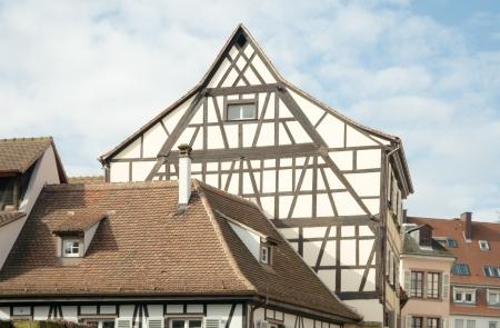 fachwerk: Half-timbered  fachwerk  houses in Petite-France, Strasbourg, France  Strasbourg