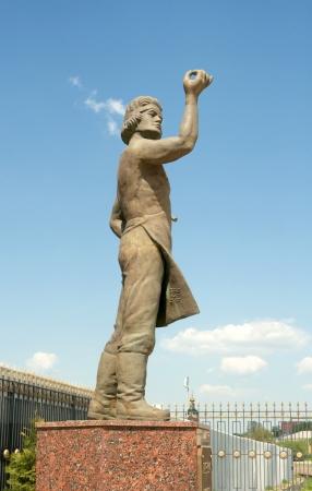 Monument de la Levsha Lefthander, artisan folklorique russe, héros de l'histoire de Nikolai Leskov Tula, Russie Banque d'images - 20275609