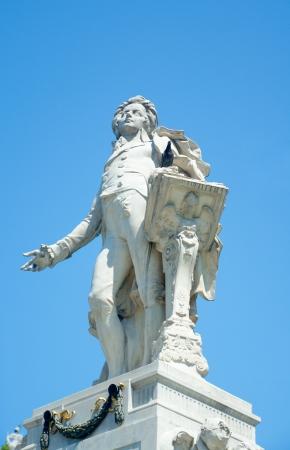 mozart: Monument to Mozart by Victor Tilgner  1896 , Burggarten, Vienna, Austria Stock Photo