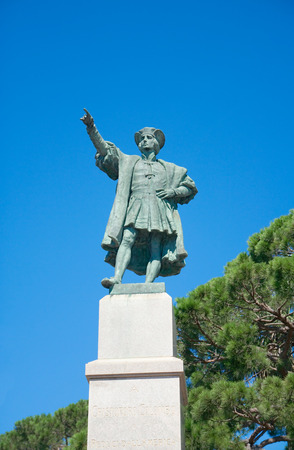 arturo: Monument to Christopher Columbus  by Arturo Dresco, 1914   Rapallo, Liguria, Italy