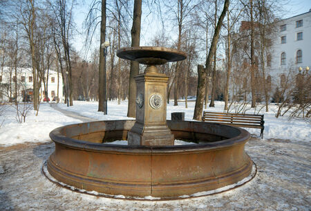 almshouse: The fountain at Izmailovo military alms-house workshop in Izmaylovo Estate, Moscow, Russia Stock Photo