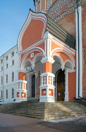 almshouse: Intercession cathedral and North soldiers quarters of Izmailovo military in Moscow, Russia