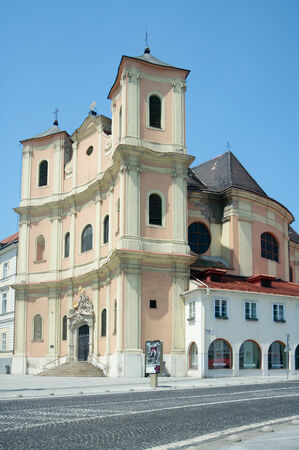 Side view of Trinitarian Church or Trinity Church  in Bratislava, Slovakia Stock Photo - 26000318