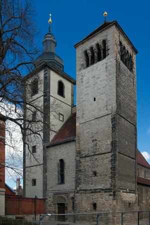 regulated: Regulated St Augustines Church  Reglerkirche St. Augustinus 12th century Erfurt Thuringia Germany