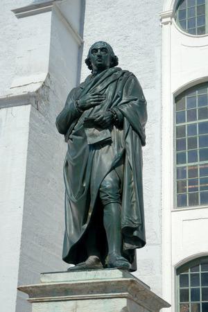 herder: Monument of Johann Gottfried Herder 1850 by Ludwig Schaller at Herderkirche Weimar Germany