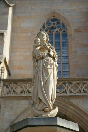 madonna: Statue of Madonna, St. Marys cathedral, Erfurt, Germany