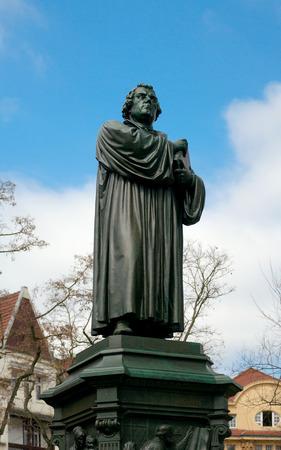 adolf: Monument of Martin Luther 1889-1895 by Adolf von Donndorf, Eisenach, Germany