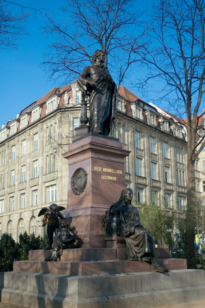felix: Monument to Felix Mendelssohn. Destroyed by the Nazis in 1936, it was rebuilt on 18 October 2008. Leipzig, Germany Editorial