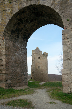 loophole: In the Rudelsburg castle 1171, Saxony-Anhalt, Germany