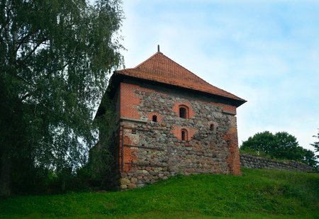 Trakai Peninsula Castle. Built around 1350–1377 by K?stutis, Duke of Trakai. Trakai, Lithuania