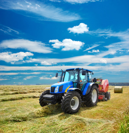 plowing: Tractor Stock Photo