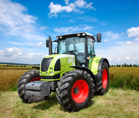 agriculture industrial: Tractor Stock Photo