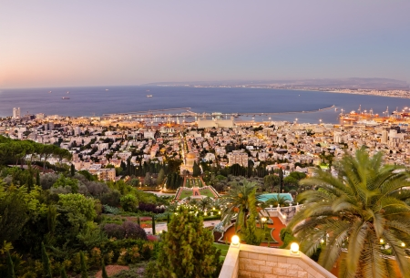 View from Mount Carmel to port and Haifa in Israel Stock Photo - 15838940