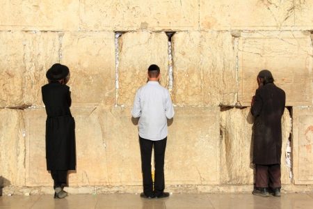 Jews pray at the Western Wall in Jerusalem Stock Photo - 16185743