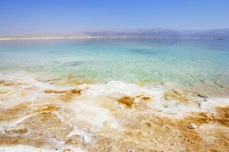 The dead sea in Israel photo