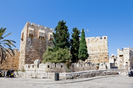 The Tower of David in the old city of Jerusalem photo