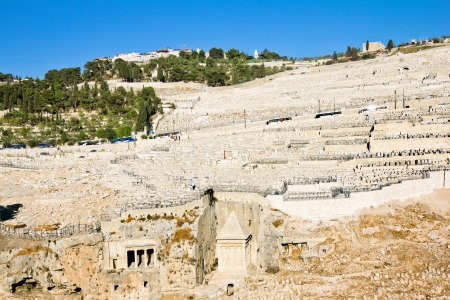 Ancient Jewish cemetery on the Mount of olives in Jerusalem Stock Photo - 16435068