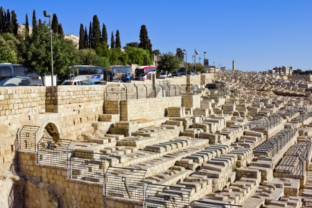 Ancient Jewish cemetery on the Mount of olives in Jerusalem Stock Photo - 16372841