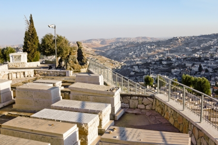 Ancient Jewish cemetery on the Mount of olives in Jerusalem Stock Photo - 16372840