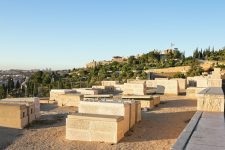 Ancient Jewish cemetery on the Mount of olives in Jerusalem Stock Photo - 16372843