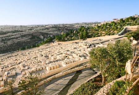Ancient Jewish cemetery on the Mount of olives in Jerusalem Stock Photo - 16435096