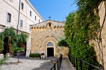 The second station of the Via Dolorosa-the Church of the flagellation  Jerusalem  Stock Photo