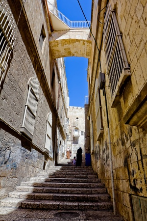 The narrow streets of the old city  Jerusalem   photo