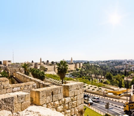 View from the walls of old Jerusalem, Israel Stock Photo - 16837744
