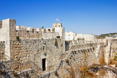 jewish home: View from the walls of ancient Jerusalem  to neighborhoods and city rooftops
