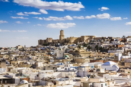View of the Medina and the castle kasbah of Tunisia in Sousse