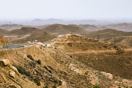 matmata: Mountain landscape at the town Matmata in Tunisia