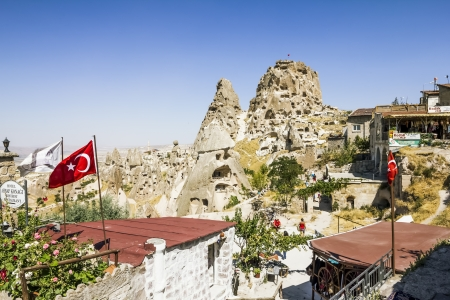 Uchisar Castle cave city in Capapdocia,Turkey
