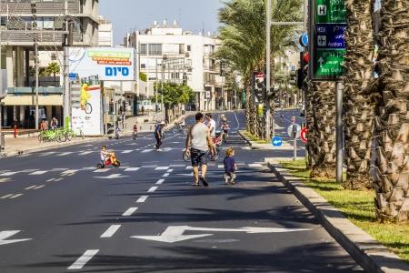 yom: The streets of Tel Aviv during the holiday Yom Kippur, September 26, 2012