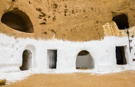 House of trogladites in the desert of Tunisia,Matmata