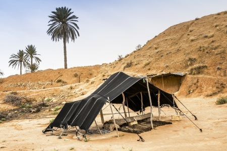 matmata: The Berber tent in the Sahara desert, Tunisia, Africa