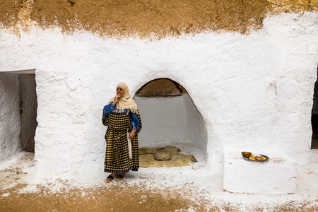 matmata: House of trogladites in the desert of Tunisia,Matmata