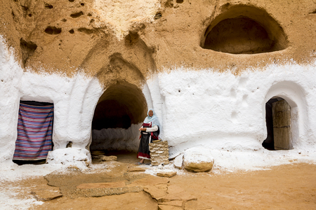matmata: House of trogladites in the desert of Tunisia,Matmata