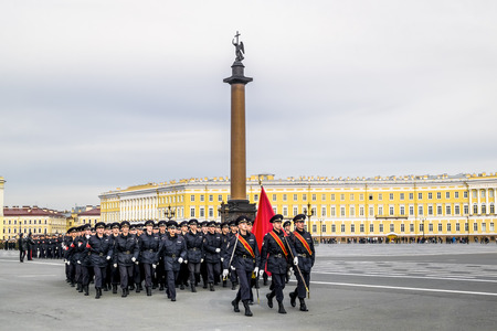 general store: Victory parade on Palace Square in Saint Petersburg, April 28, 2014, celebrating sixty-ninth anniversary of the great victory Editorial
