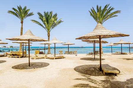 Beach, chair, umbrella, idyllic, tropical, sand, beach