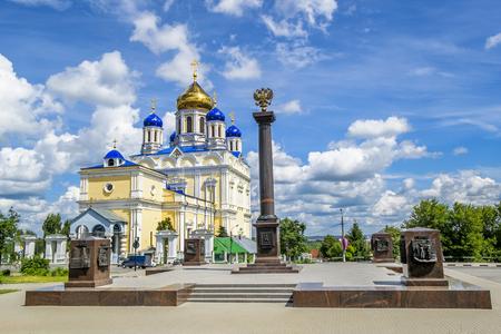 Voznesenskij Cathedral in Yelets, Lipetsk region, Russia,in sunny day 13 june 2014