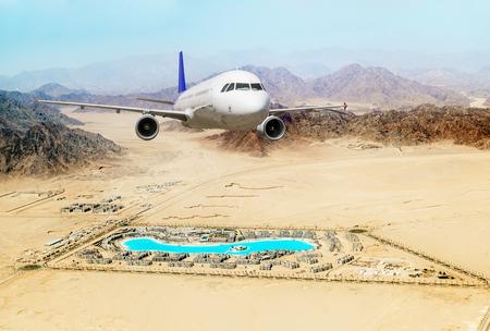 sharm el sheik: Passenger airliner took off over the Egyptian resort hotel Sharm El Sheik